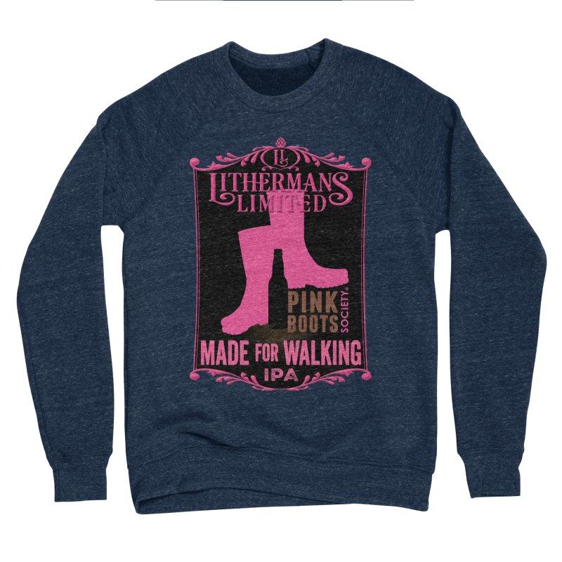 Made For Walking Men's Sponge Fleece Sweatshirt by Lithermans Limited Print Shop
