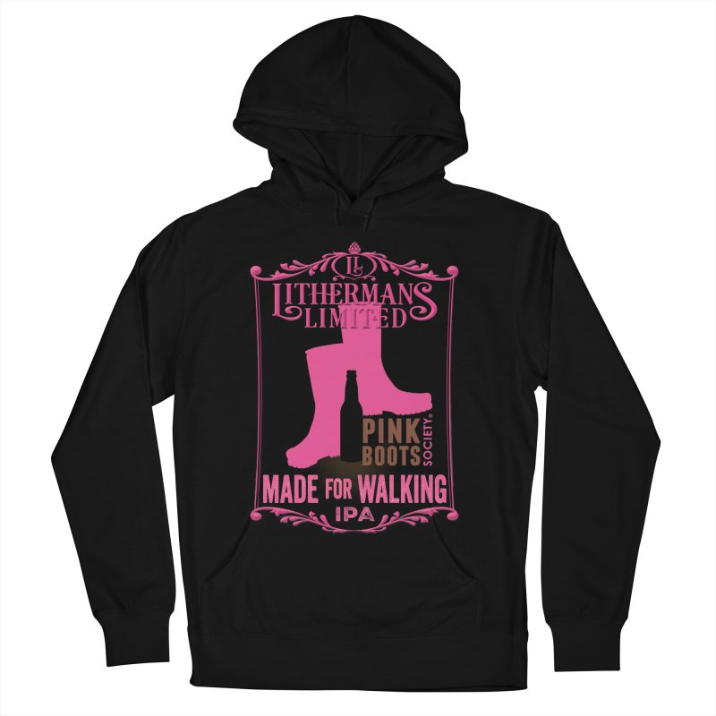 Made For Walking Men's French Terry Pullover Hoody by Lithermans Limited Print Shop
