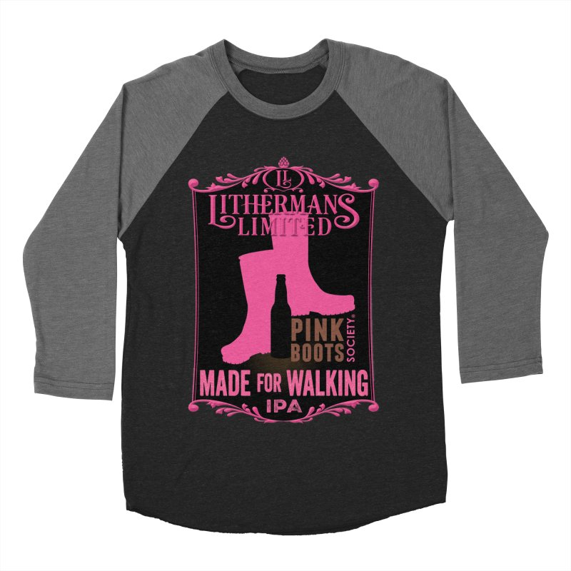 Made For Walking Women's Baseball Triblend Longsleeve T-Shirt by Lithermans Limited Print Shop
