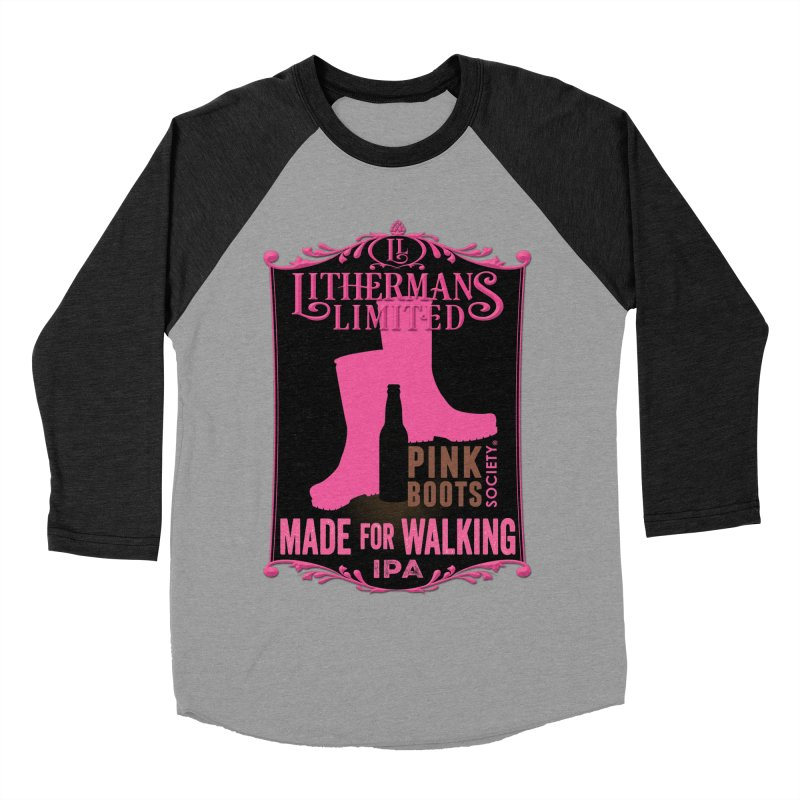 Made For Walking Men's Baseball Triblend Longsleeve T-Shirt by Lithermans Limited Print Shop