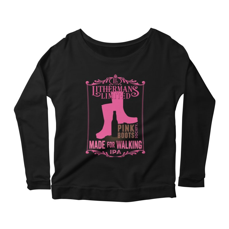 Made For Walking Women's Scoop Neck Longsleeve T-Shirt by Lithermans Limited Print Shop
