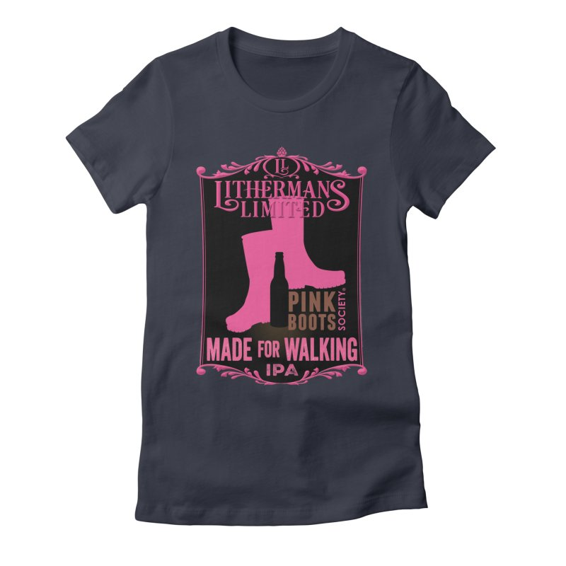 Made For Walking Women's Fitted T-Shirt by Lithermans Limited Print Shop
