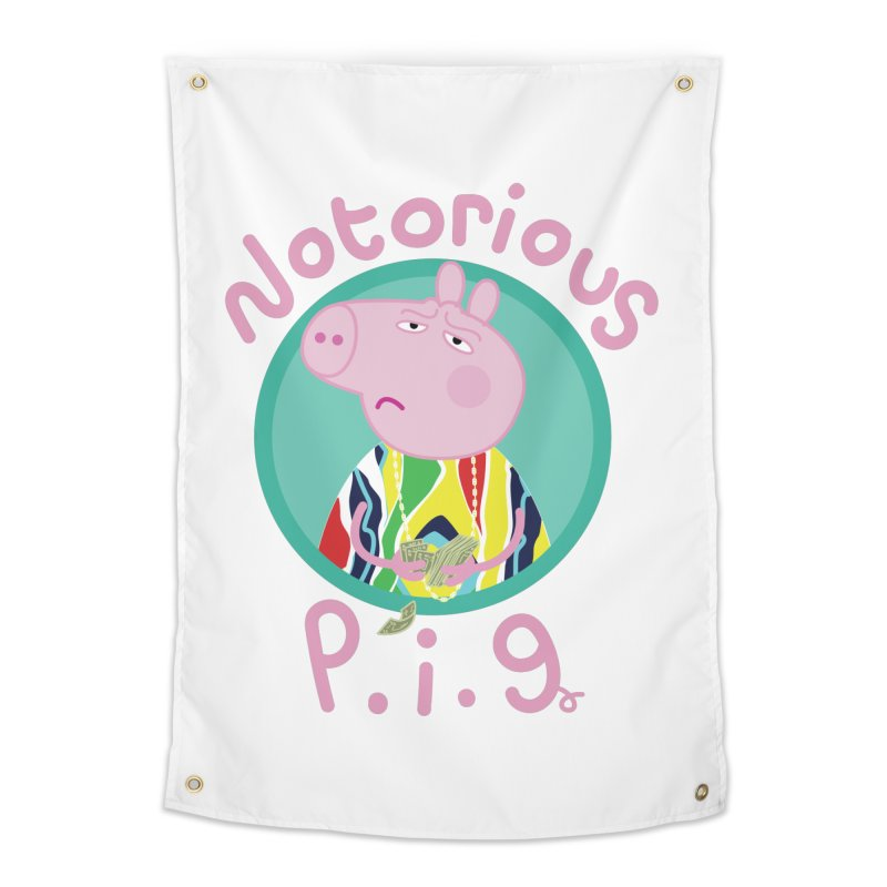 NOTORIOUS P.I.G. Home Tapestry by litoq's Artist Shop