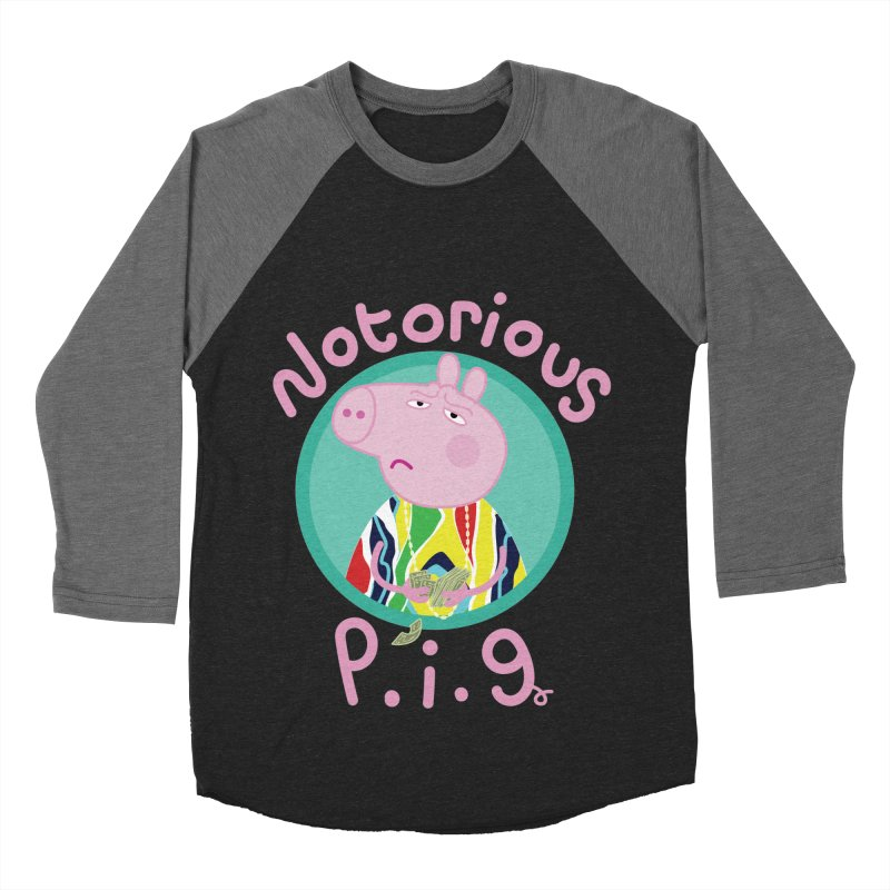 NOTORIOUS P.I.G. Men's Baseball Triblend Longsleeve T-Shirt by litoq's Artist Shop