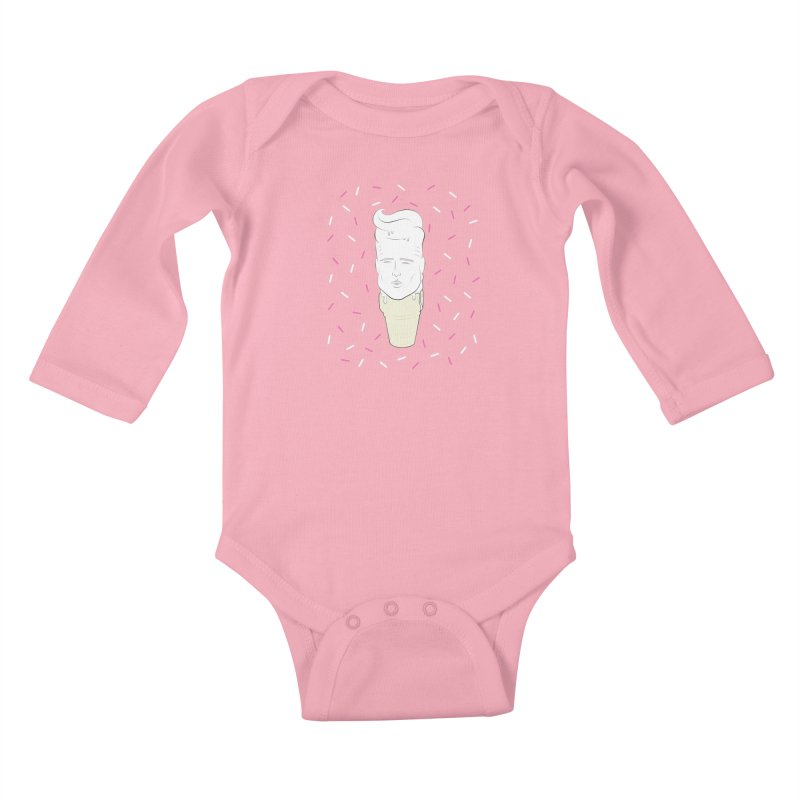 VANILLA ICECREAM Kids Baby Longsleeve Bodysuit by litoq's Artist Shop