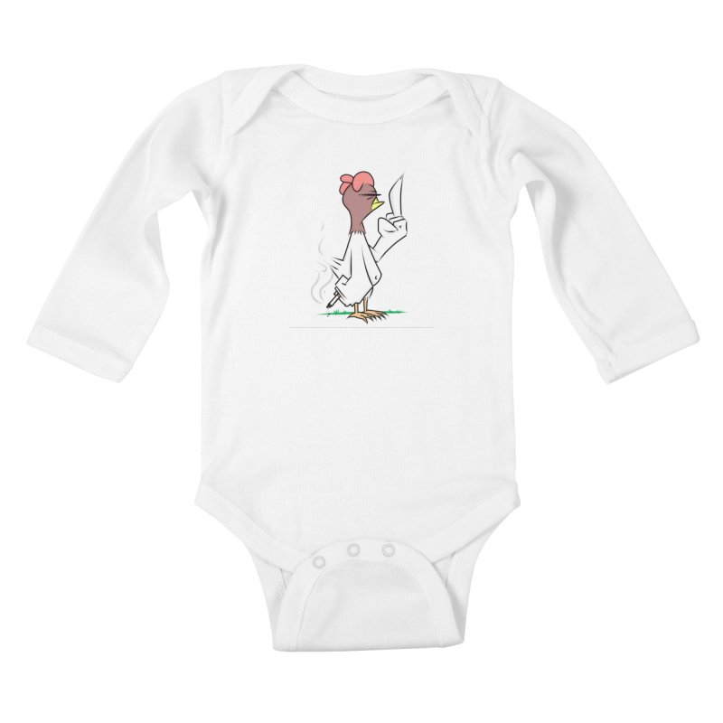 JERK CHICKEN Kids Baby Longsleeve Bodysuit by litoq's Artist Shop