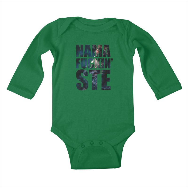 NAMAFUCKINSTE Kids Baby Longsleeve Bodysuit by litoq's Artist Shop
