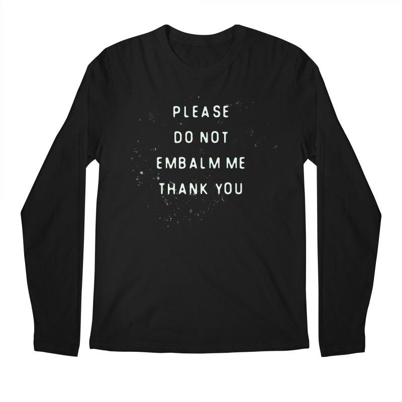 Please Do Not Men's Longsleeve T-Shirt by LITTLE   &   GRIM