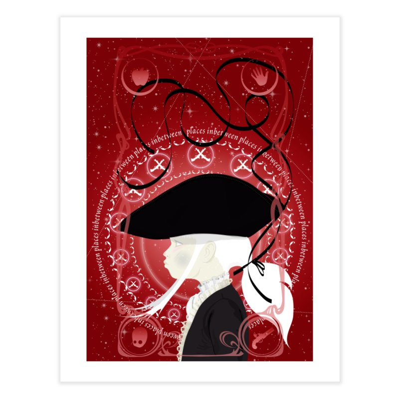 Sancio Black Home Fine Art Print by littleappledolls's Artist Shop
