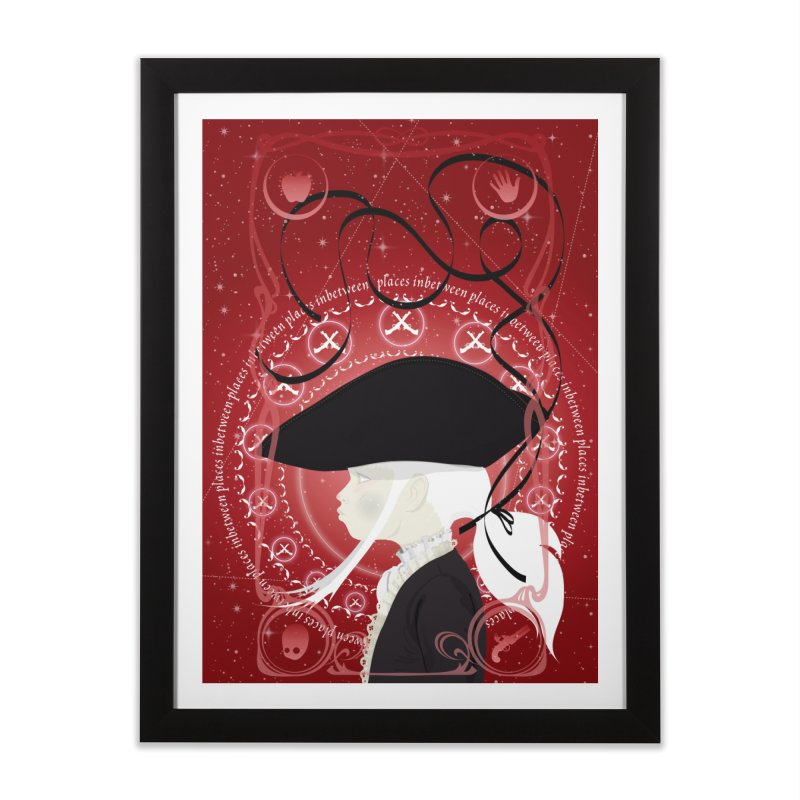 Sancio Black Home Framed Fine Art Print by littleappledolls's Artist Shop