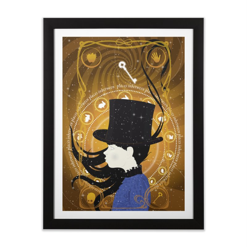 Supernae Blue Home Framed Fine Art Print by littleappledolls's Artist Shop
