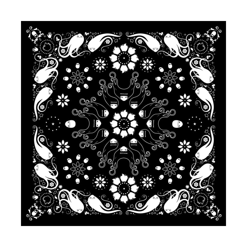 Dolls and Daisies Paisley/Black Square by littleappledolls's Artist Shop