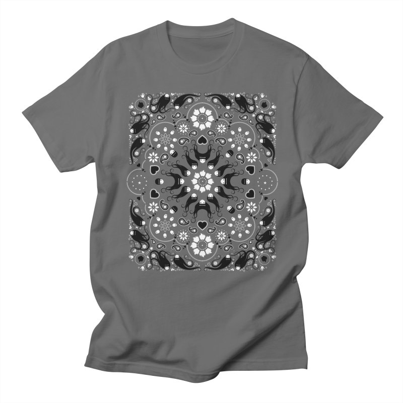 Dolls and Daisies Paisley/Multi in Men's T-shirt Asphalt by littleappledolls's Artist Shop