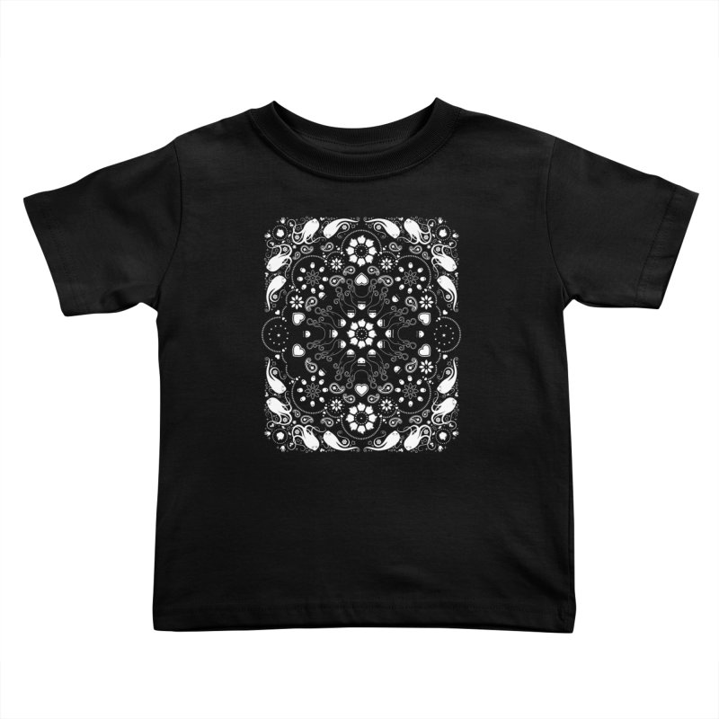 Dolls and Daisies Paisley/Black Kids Toddler T-Shirt by littleappledolls's Artist Shop