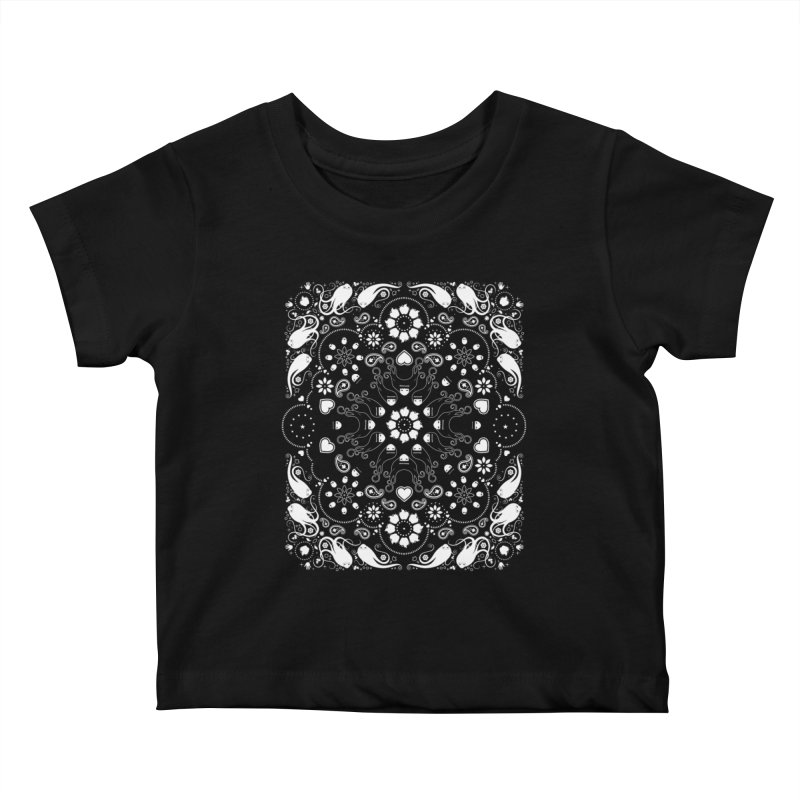 Dolls and Daisies Paisley/Black Kids Baby T-Shirt by littleappledolls's Artist Shop