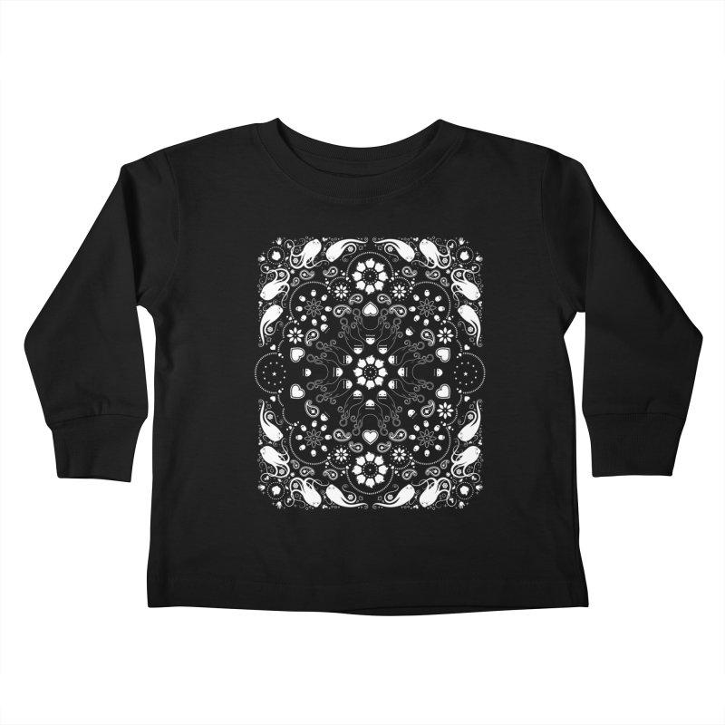 Dolls and Daisies Paisley/Black Kids Toddler Longsleeve T-Shirt by littleappledolls's Artist Shop