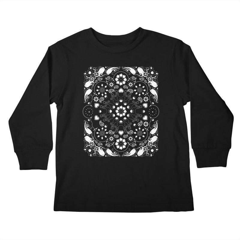 Dolls and Daisies Paisley/Black Kids Longsleeve T-Shirt by littleappledolls's Artist Shop