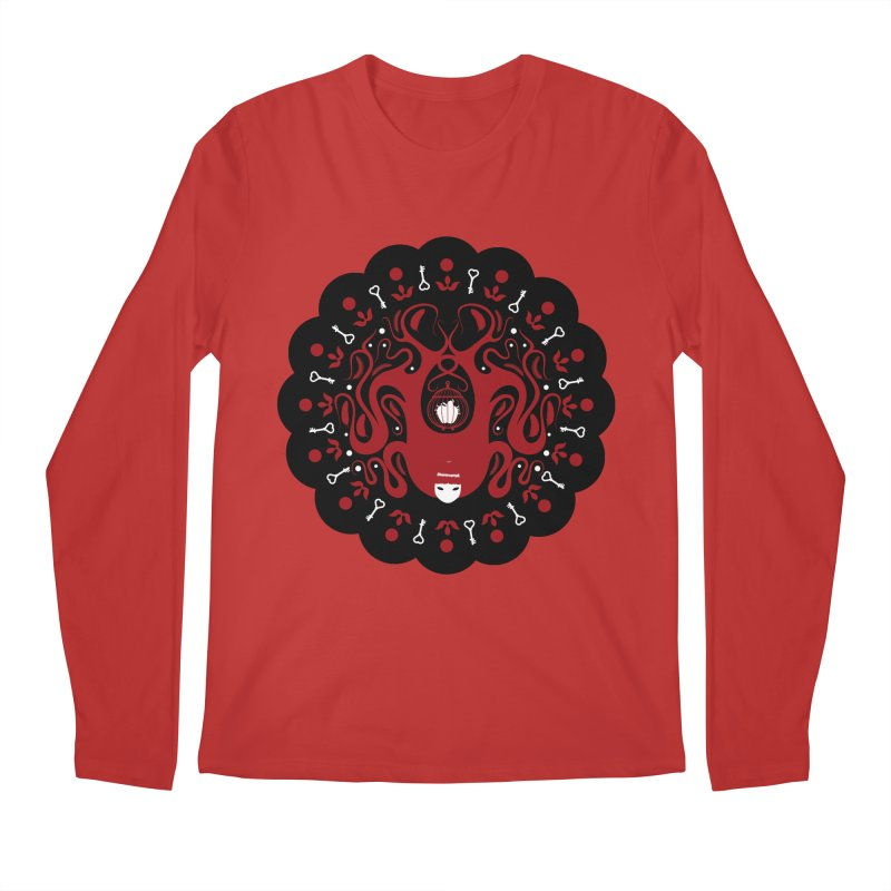 Cages and Keys/Black Men's Regular Longsleeve T-Shirt by littleappledolls's Artist Shop
