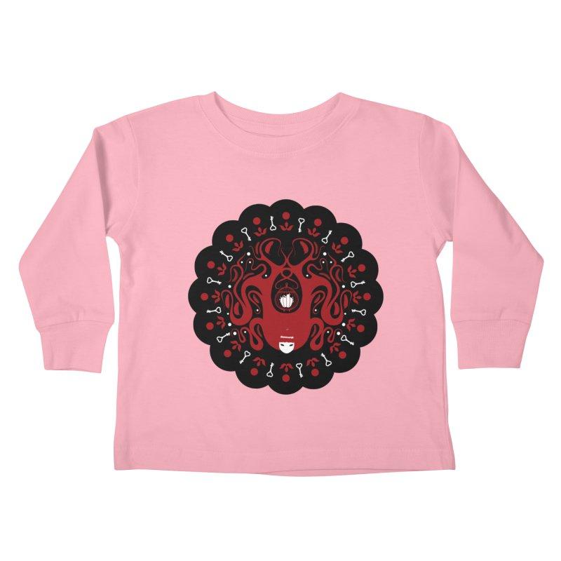 Cages and Keys/Black Kids Toddler Longsleeve T-Shirt by littleappledolls's Artist Shop