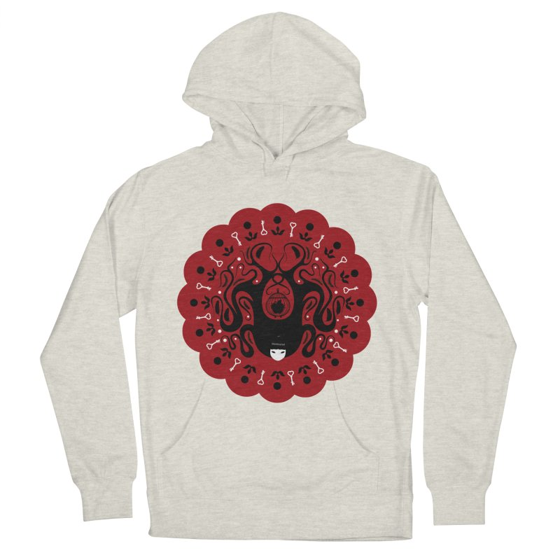 Cages and Keys/Red Women's French Terry Pullover Hoody by littleappledolls's Artist Shop