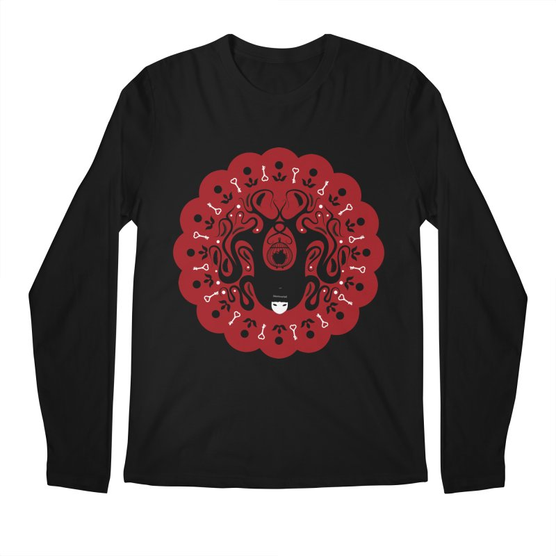 Cages and Keys/Red Men's Regular Longsleeve T-Shirt by littleappledolls's Artist Shop