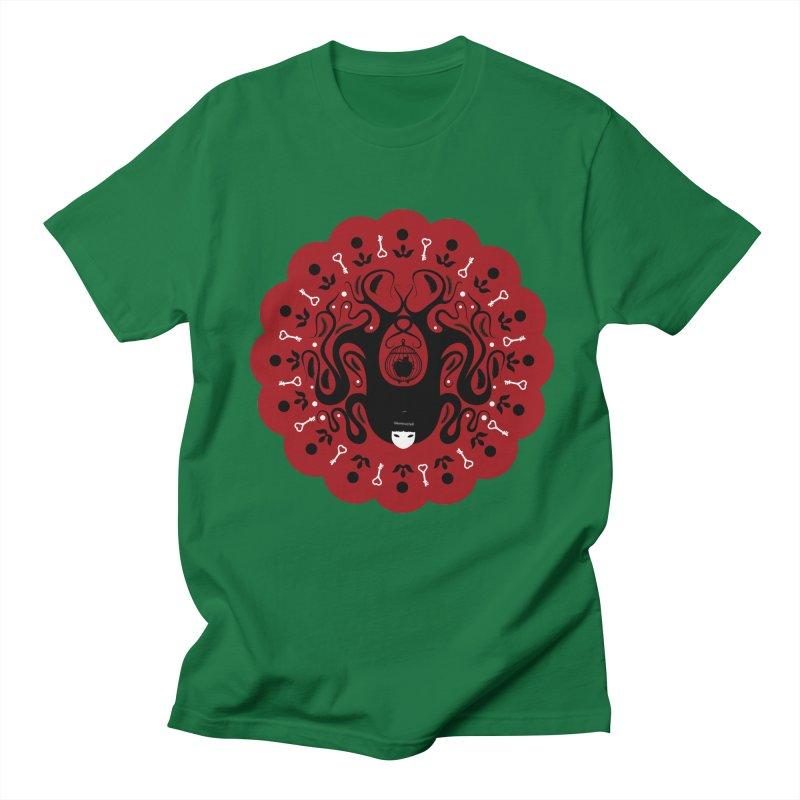 Cages and Keys/Red Men's Regular T-Shirt by littleappledolls's Artist Shop