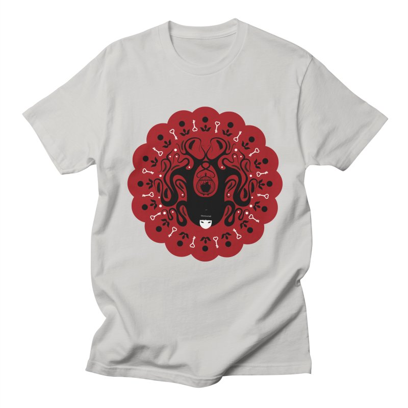 Cages and Keys/Red Women's Regular Unisex T-Shirt by littleappledolls's Artist Shop
