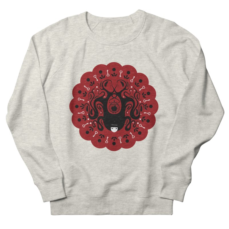 Cages and Keys/Red Women's French Terry Sweatshirt by littleappledolls's Artist Shop