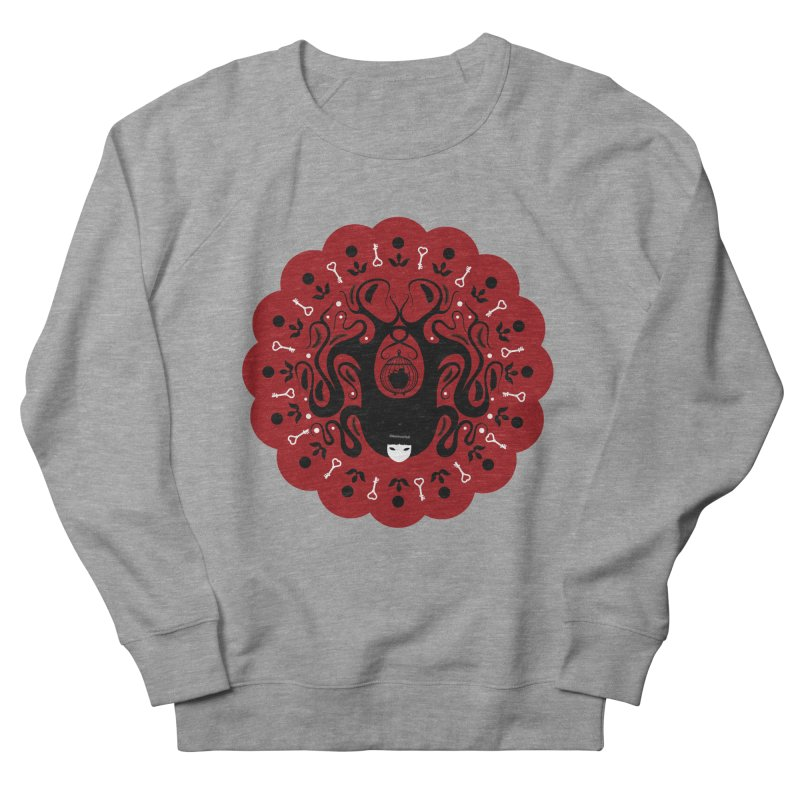 Cages and Keys/Red Men's French Terry Sweatshirt by littleappledolls's Artist Shop