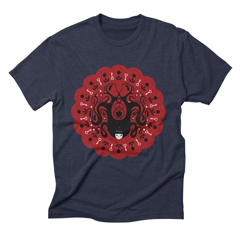 Cages and Keys/Red Men's Triblend T-Shirt by littleappledolls's Artist Shop