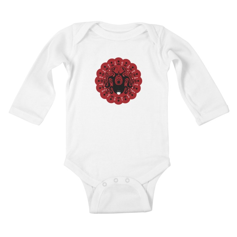 Cages and Keys/Red Kids Baby Longsleeve Bodysuit by littleappledolls's Artist Shop