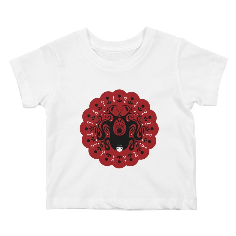 Cages and Keys/Red in Kids Baby T-Shirt White by littleappledolls's Artist Shop