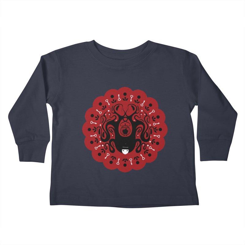 Cages and Keys/Red Kids Toddler Longsleeve T-Shirt by littleappledolls's Artist Shop