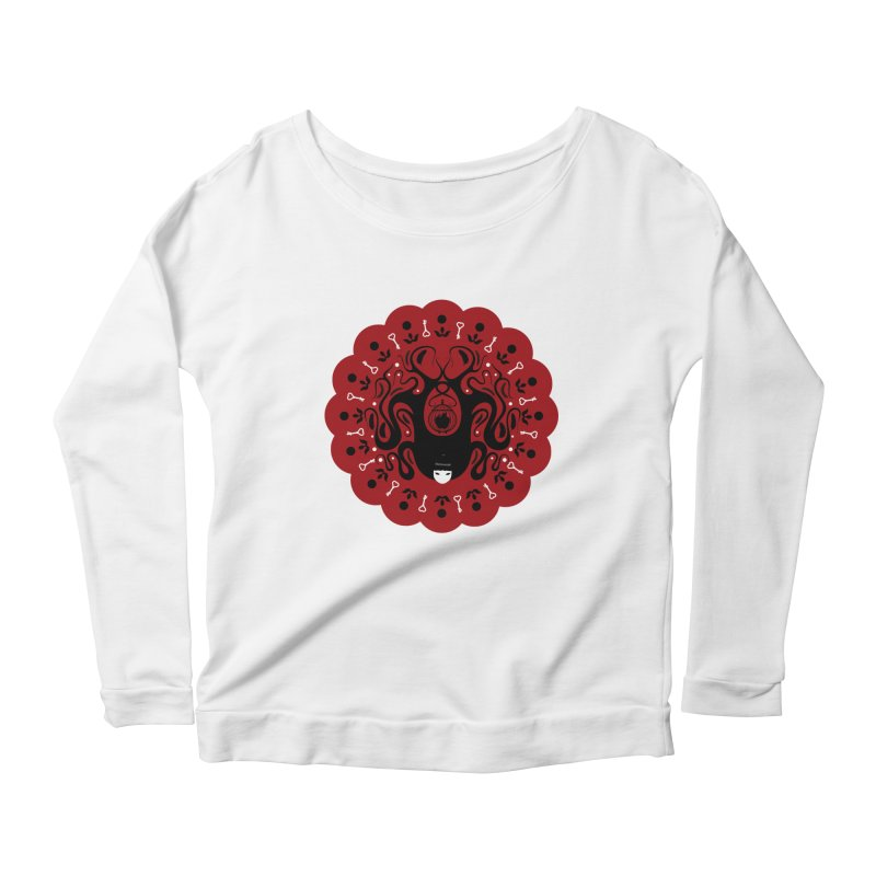 Cages and Keys/Red Women's Scoop Neck Longsleeve T-Shirt by littleappledolls's Artist Shop