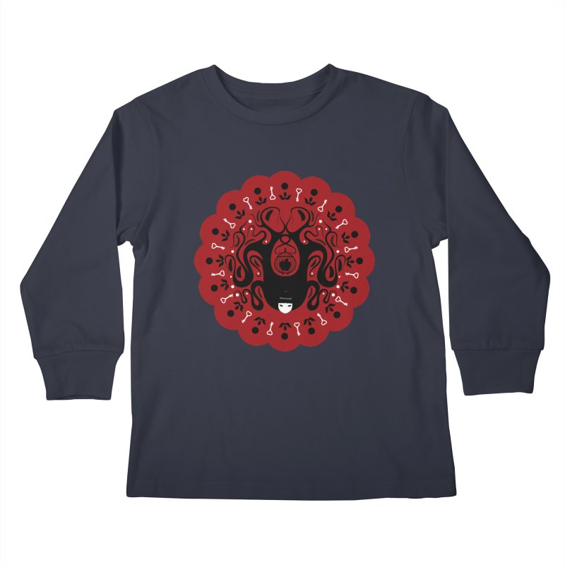 Cages and Keys/Red Kids Longsleeve T-Shirt by littleappledolls's Artist Shop