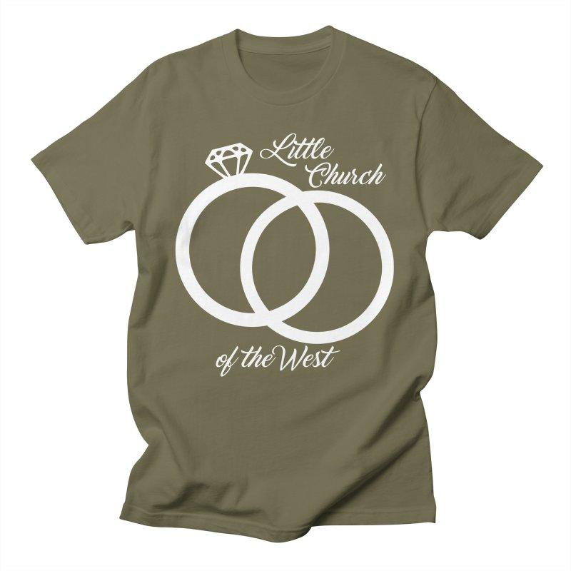 Wedding Rings Men's T-Shirt by Little Church of the West's Artist Shop