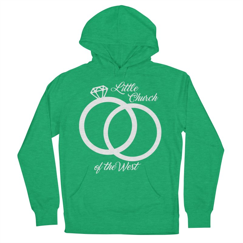 Wedding Rings Women's French Terry Pullover Hoody by Little Church of the West's Artist Shop