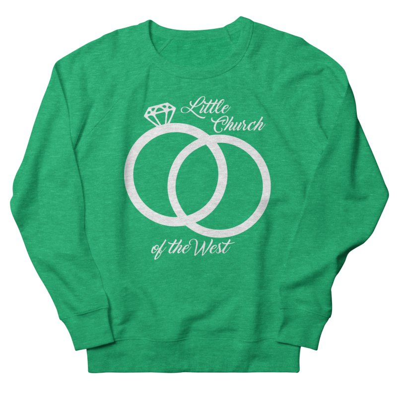 Wedding Rings Men's French Terry Sweatshirt by Little Church of the West's Artist Shop