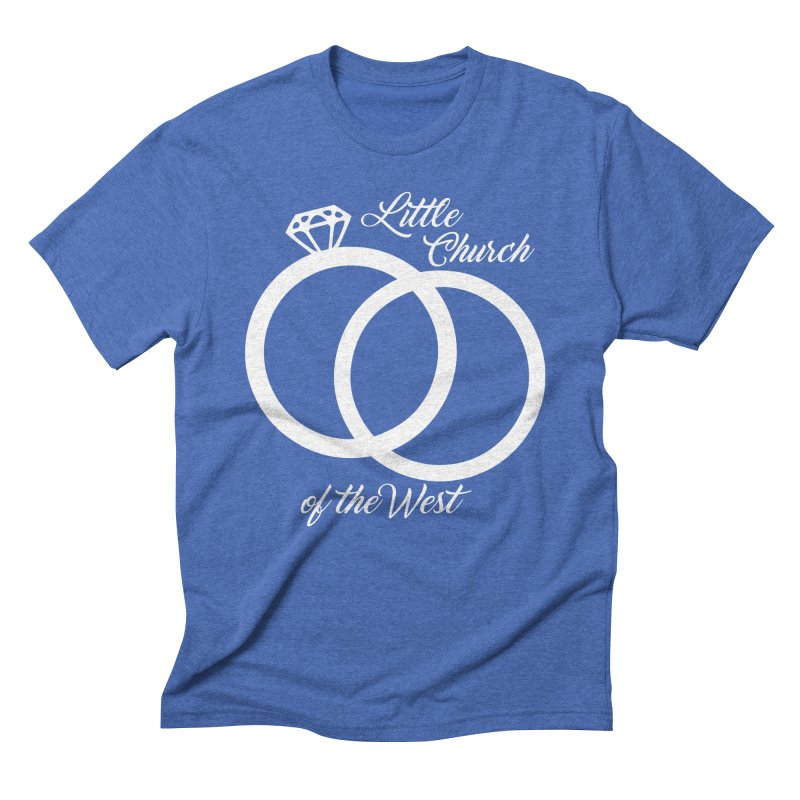 Wedding Rings Men's Triblend T-Shirt by Little Church of the West's Artist Shop