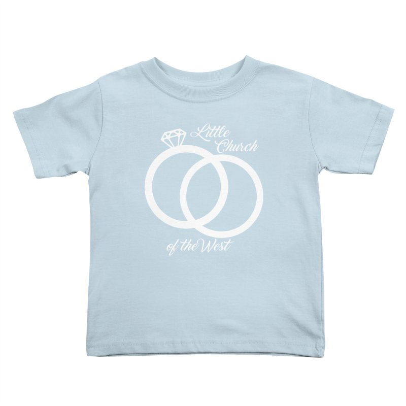 Wedding Rings Kids Toddler T-Shirt by Little Church of the West's Artist Shop