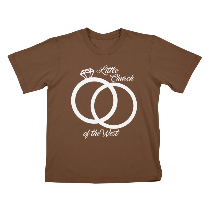 Wedding Rings Kids T-Shirt by Little Church of the West's Artist Shop