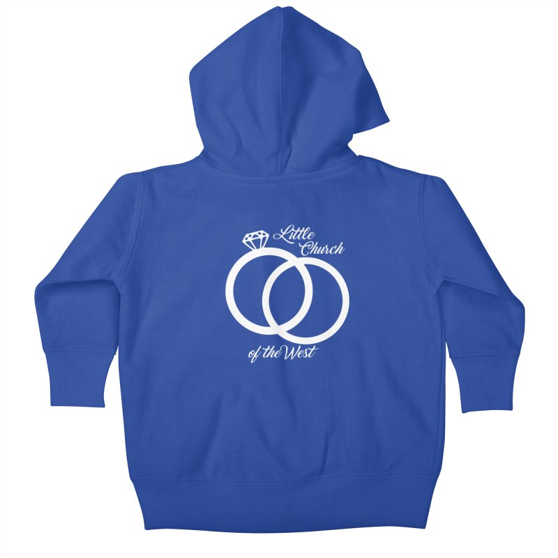 Wedding Rings Kids Baby Zip-Up Hoody by Little Church of the West's Artist Shop