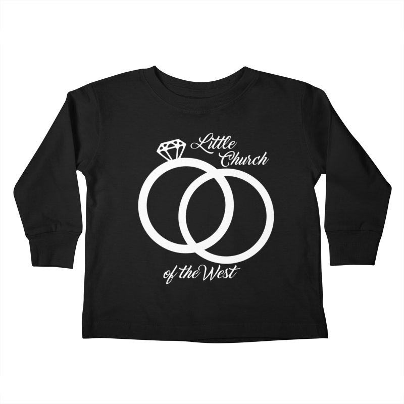 Wedding Rings Kids Toddler Longsleeve T-Shirt by Little Church of the West's Artist Shop
