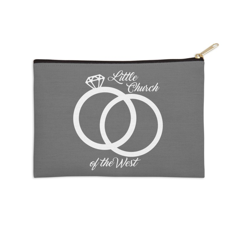 Wedding Rings Accessories Zip Pouch by Little Church of the West's Artist Shop