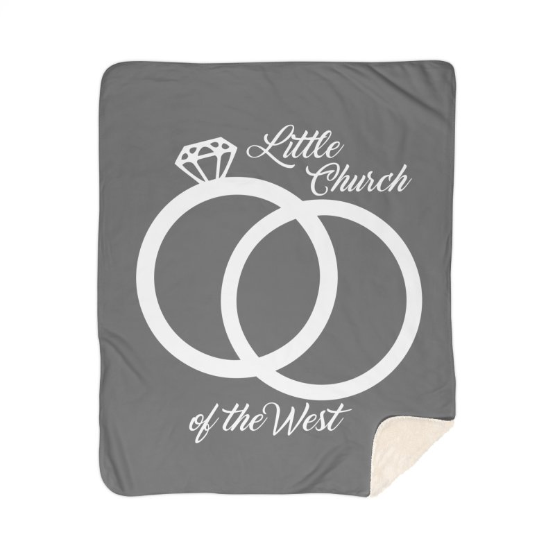 Wedding Rings Home Blanket by Little Church of the West's Artist Shop
