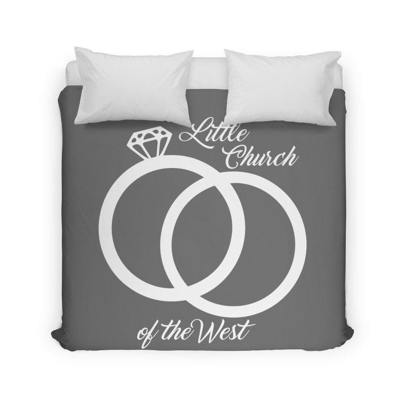 Wedding Rings Home Duvet by Little Church of the West's Artist Shop