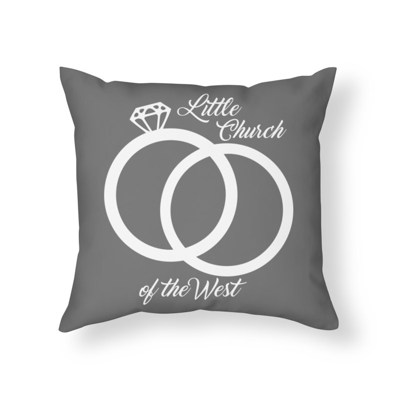 Wedding Rings Home Throw Pillow by Little Church of the West's Artist Shop