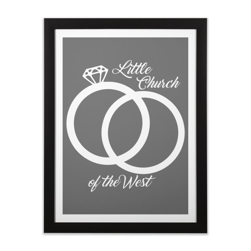 Wedding Rings Home Framed Fine Art Print by Little Church of the West's Artist Shop