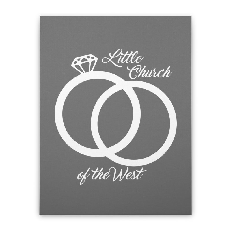 Wedding Rings Home Stretched Canvas by Little Church of the West's Artist Shop