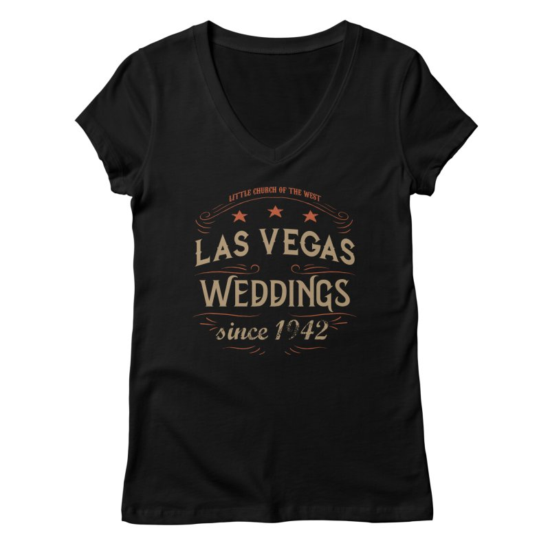 Retro 1942 Women's V-Neck by Little Church of the West's Artist Shop